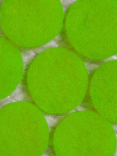 "3.2cm//1¼/"" x20 Iron-On or Plain Crafts etc 30+ Colours :- Felt Circles"