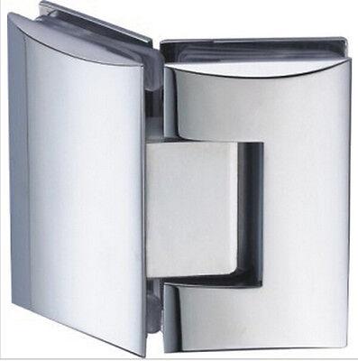 Brass plating chromium Copper casting bathroom clip 135 degrees glass hinge