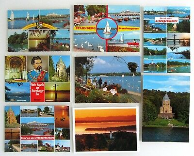 Willensstark 8x Starnberg Starnberger See Postkarten Lot Ansichtskarten Ungelaufen Nach ~1970 Um Zu Helfen, Fettiges Essen Zu Verdauen