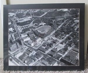 VINTAGE MATTED & SHRINK WRAPPED PHOTO OF FORBES FIELD PITTSBURGH PIRATES BUCS