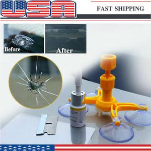 US Windshield Repair Kit Quick Fix Car Wind Glass Bullseye Rock Chip Crack Star