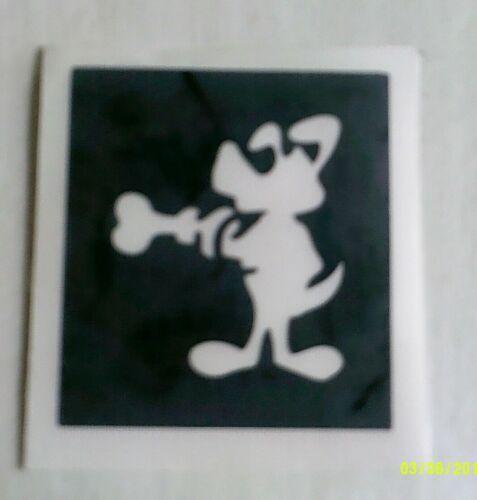 Cartoon DOG /& bone pochoirs pour gravure sur verre craft hobby // chiens présents
