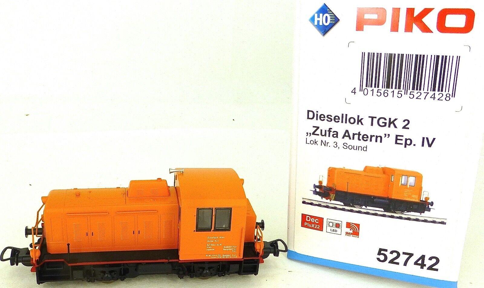 Piko 52742 Locomotive Diesel TGK2 Zufa Artern Son Numérique Ep IV H0 1 87