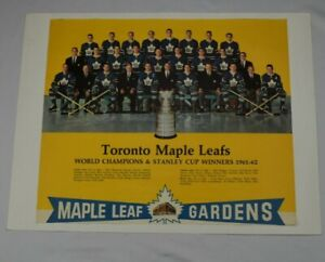 Vintage-1961-62-EXPORT-A-NHL-Hockey-Calendar-Toronto-Maple-Leafs-Gardens-top