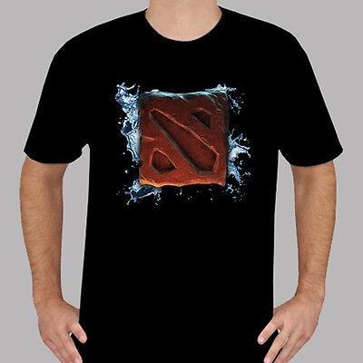 DOTA 2 Logo Men/'s Black T-Shirt Size S M L XL 2XL 3XL