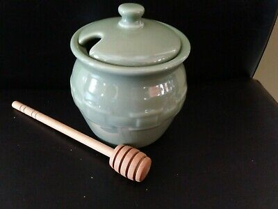 Longaberger Sage Green Pottery Dash Prep Bowls TWO mint condition in box!