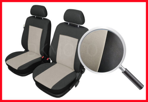 black//beige CAR SEAT COVERS pair for front seats fit Nissan NV200