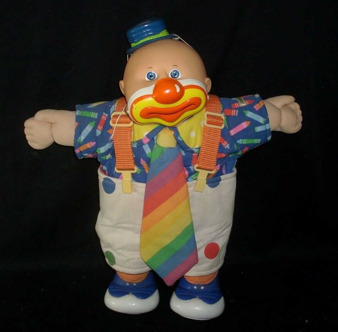 VINTAGE 1985 COLECO CIRCUS CLOWN CABBAGE PATCH KIDS STUFFED ANIMAL PLUSH DOLL C