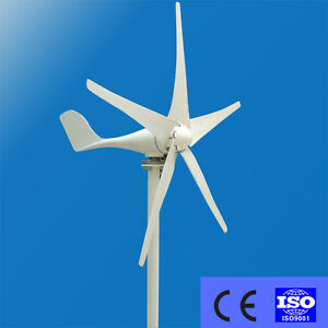Details about 400W Wind Turbine Generator DC 12V 24V 3/5 Blade with  windmill Charge Controller