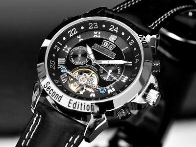 """Armband- & Taschenuhren Calvaneo Luxuryline """"astonia Brillant Second Edition Platiniert"""" Automatiktimer Heller Glanz"""