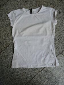 Weisses-Basis-Stretch-Shirt-von-H-amp-M-Gr-34