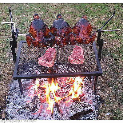 Camp Fire Rotisserie Grill Amp Spit Great For Camping Ebay