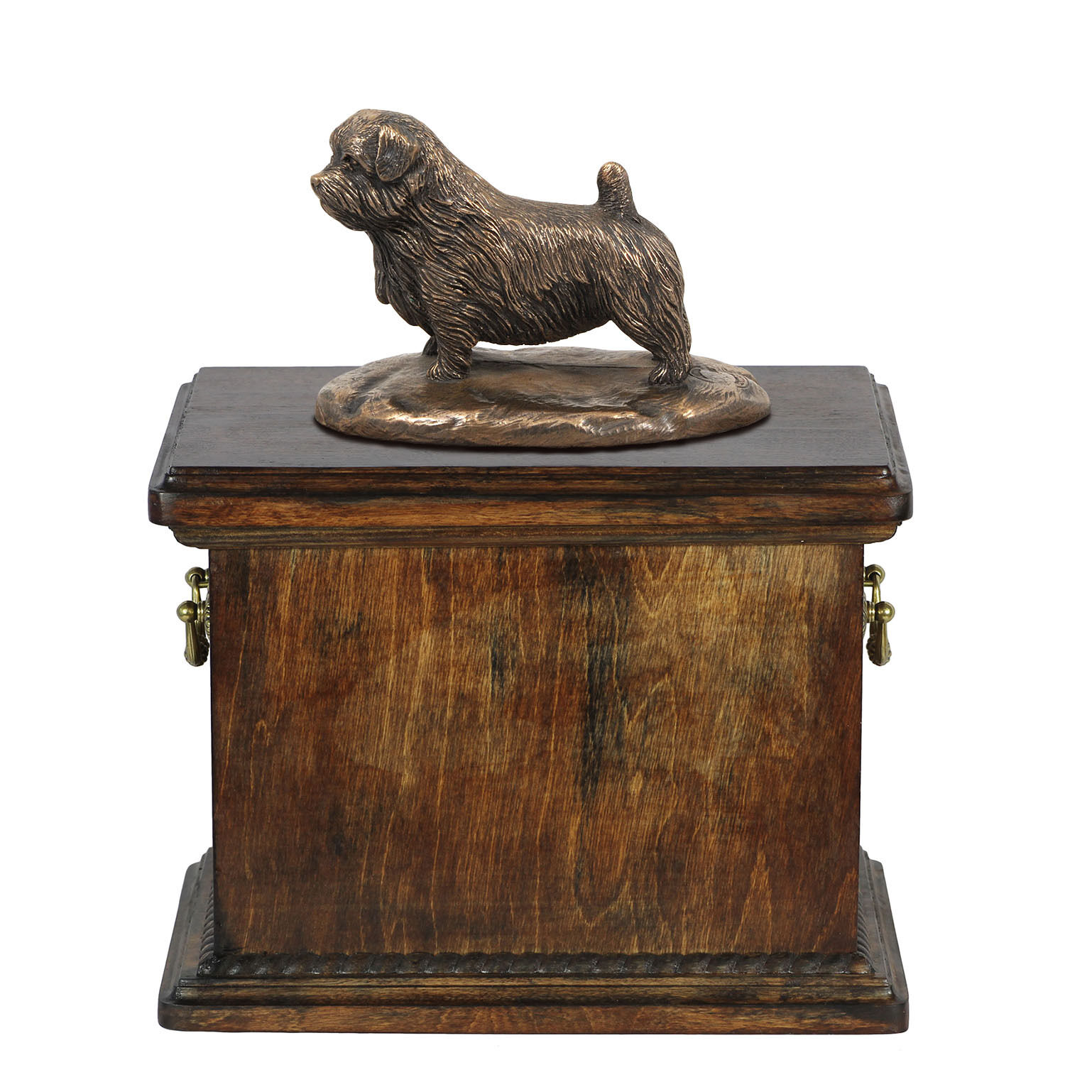 Pet cremation Urn Norfolk Terrier- Memorial Urn for Dog's Dog's Dog's ashes with Dog statue 244cb5