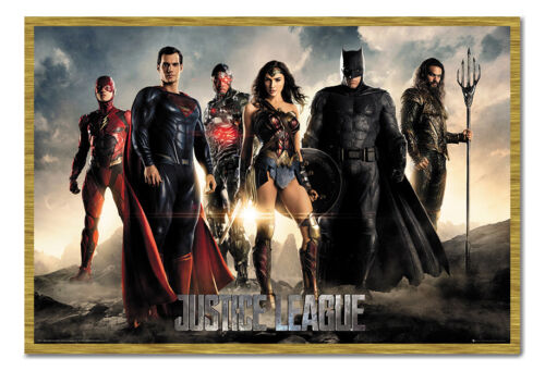 Framed Justice League Characters Poster New
