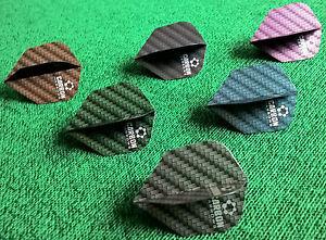 30-Harrows-Carbon-Dart-Flights-10-Sets-in-6-Farben-waehlbar-oder-6er-Zufallsmix