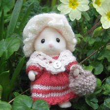 Andare al mercato: un motivo a lavorare a maglia per Sylvanian Families o Calico Critters
