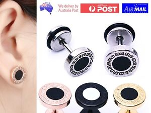 Image Is Loading Fake Earplug Round Stretcher Earring Disc Ring