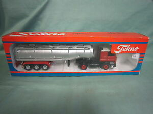 Ab938 Tekno Camion Citerne Scania 142 H 1/50 Truck Tres Bon Etat