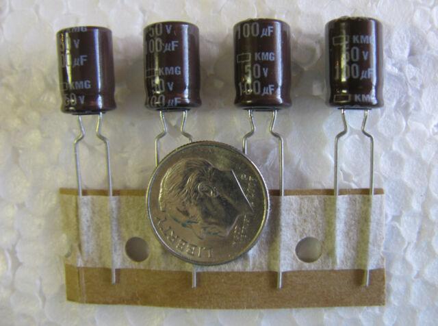 100uF 50V 105°C Nippon KMG radial Electrolytic Capacitors 25 pcs