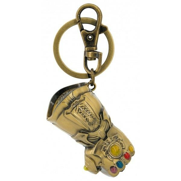 Official Marvel Avengers Infinity War Metal Logo Keyring Keychain Thanos