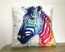Simple painting Cartoon zebra Home Decor sofa Cushion Covers Pillow Case 18X18''