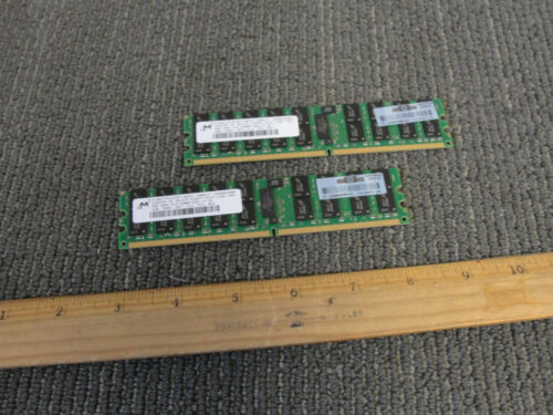2x 4GB PC2-5300P 2Rx4 Server RAM Modules 405477-061 Micron 8GB