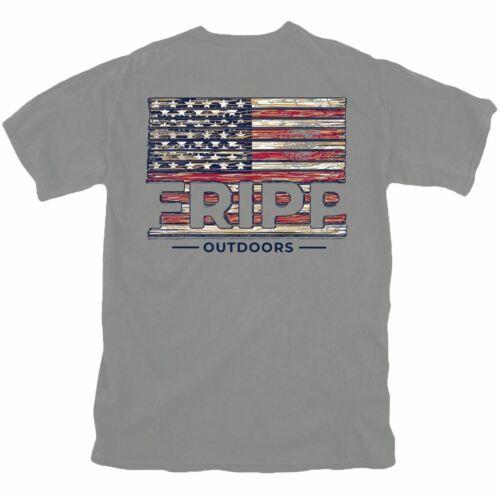 Fripp Outdoors Wood Flag T-Shirt
