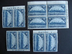 CANADA-Sc-202-10-MNH-stamps-most-plate-margins-3-have-dings-creases-check-pics