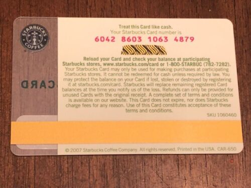 Starbucks Card 2007 Morning Inspiration Flowers Mothers Day NEW Rare MINT