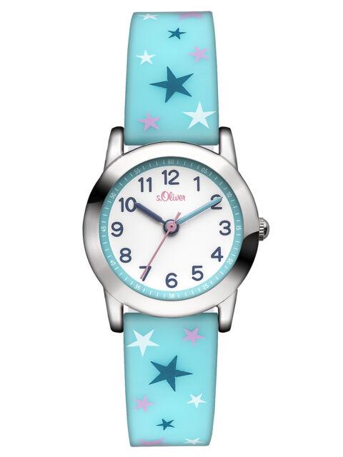 s.Oliver Mädchen Armbanduhr Sternenmuster Silikonband SO-2896-PQ
