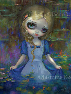 Jasmine Becket-Griffith art BIG print lily SIGNED Alice in Monet/'s Water Lilies