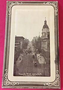 Postcard-1912-Granville-Street-Vancouver-B-C-Canada-Vintage-P38