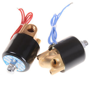 "1/4""  DC 12V Electric Solenoid 2-Way ValveS Normally Closed For Water Air Gas Ev"