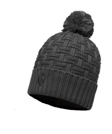 64446dba Buff Leisure AIRON Primaloft Knitted Beanie Bobble Hat Grey Melange for  sale online | eBay