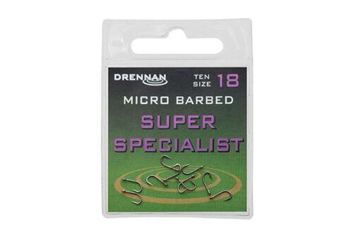 Drennan Super Specialist Hooks Barbed