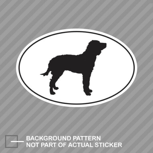 American Water Spaniel Euro Oval Sticker Decal Vinyl dog canine pet