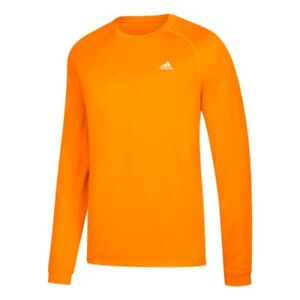 Adidas-Adi-Performance-Logo-Orange-Climalite-Performance-Long-Sleeve-T-Shirt