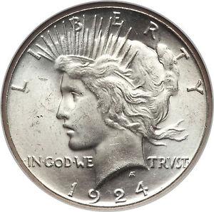 1922 1926 Peace Silver Dollar Brilliant Uncirculated 90