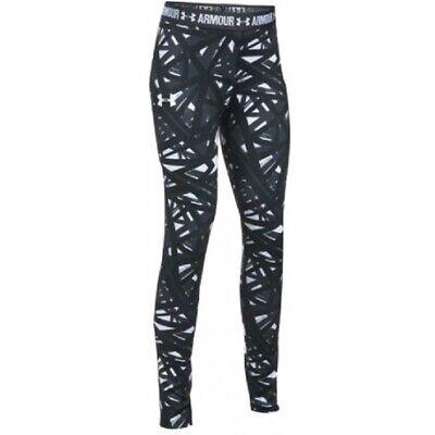 Under Armour printed logo cropped capris leggings NWT girls/' M YMD black