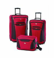 American Tourister Luggage Fieldbrook Ii 3 Piece Set Red/black Free Shipping
