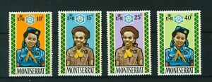 Montserrat-1970-Jubilee-of-Girl-Guides-full-set-of-stamps-MNH-Sg-264-267
