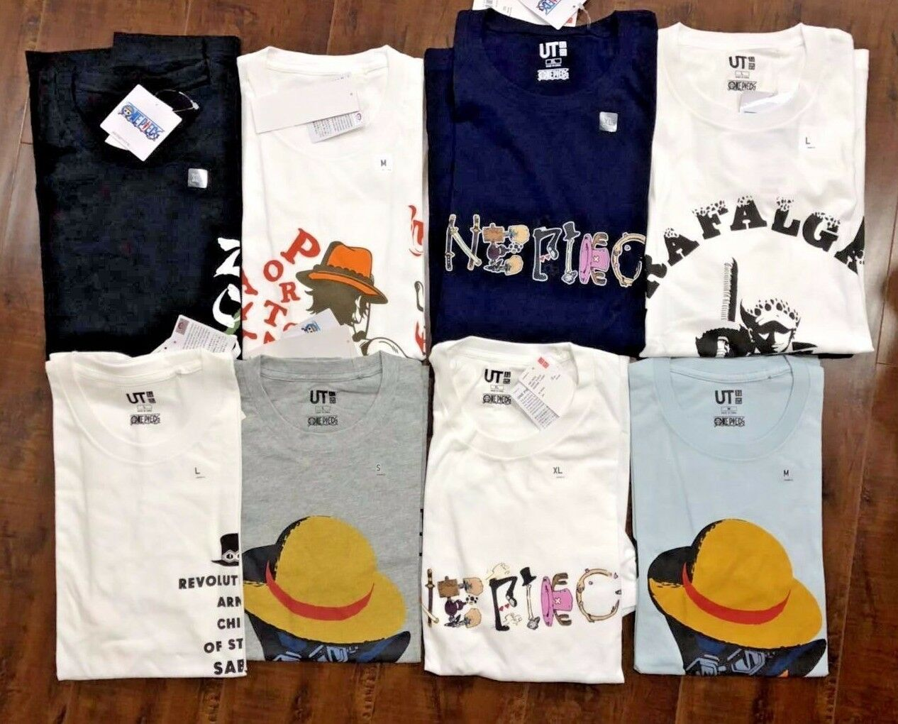 New Uniqlo One Piece Men`s Short Sleeve T-Shirt Graphic Tee S M L XL
