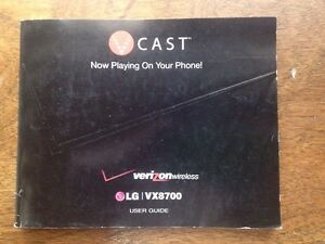 verizon wireless lg vx8700 phone user manual ebay rh ebay com