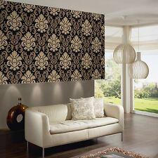 CARATI PETALI GLITTER Carta da Parati Oro Nero - 13343-90 BEDROOM SALOTTO Wall Decor