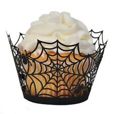 12Pcs Halloween Cake Cupcake Wrappers Cases Spider Party Ghost