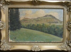 ALBERT-STAGURA-1866-1947-OLGEMALDE-SIGNIERT-WEINBERG-STUDIE-RAHMEN-ANTIK-OL