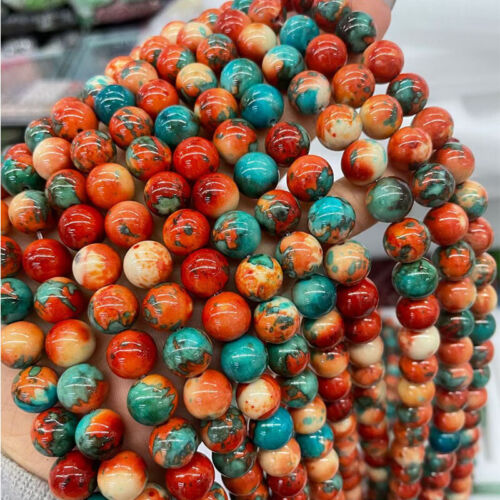 6MM Natural Gemstone Colorful Round Spacer Loose Beads Stone DIY Jewelry Making
