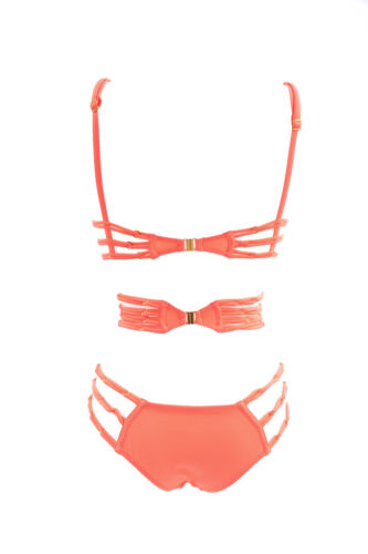 32b Swimsuit Size Uk Provocateur Womens Neon Pink Strappy Pink Agent RzqwS