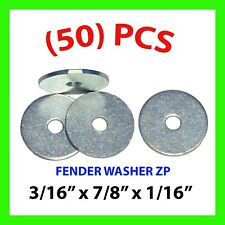 """QTY 50 3//16/"""" X 7//8 x 1//16/"""" Zinc Plated Fender Washers FABORY"""