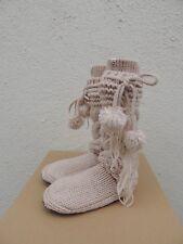 fd772690ea6 UGG Australia Cozy SLIPPER Cable Knit Yarn Cream Heather Socks Xs/s
